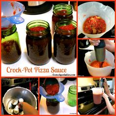 Crock-Pot Pizza Sauce {via CrockPotLadies.com} - this delicious pizza sauce recipe is perfect for canning!