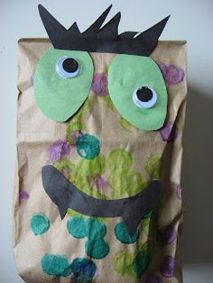 old paper, idea, monster crafts, stuf monster, paper bags