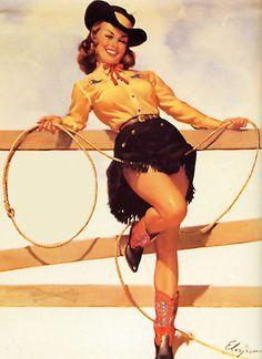 Vintage cowgirl.
