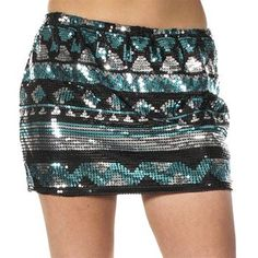 Rock & Roll Cowgirl Women's Aztec Sequined Mini Skirt