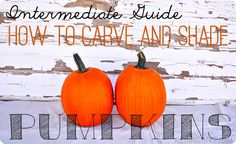 How to carve and shade pumpkins {step by step tutorial} - All Things Thrifty Home Accessories and Decor