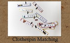 Planet of the Apels: Busy Bag Swap: Day 9 (Clothespin Matching)