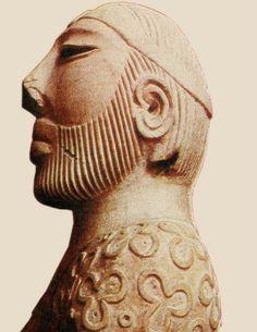 Sculpture of King Priest, Moenjodaro, Sindh, Pakistan. Archaeological site, Indus Valley Civilization
