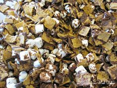 Smores Party Mix #DIY #cooking #recipe #smores #chocolate #marshmallow #party #food