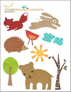 woodland printables for iron-on transfers