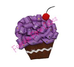 Free Cupcake Clippie Hair Bow Instructions: hairbow free directions, hair bow business work at home