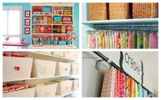 Fabric storage ideas