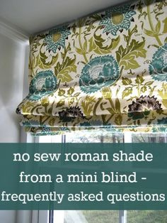 No Sew Roman Shade FAQs –