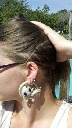 Octopus Earrings For Stretched Ears 6g 4g 2g 0g 00g (Design Your Own)