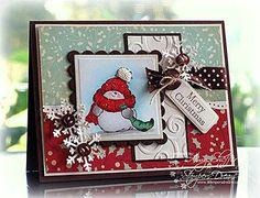 christma card, christmas cards, black christmas, card idea, snowman card, holli jolli, christmas snowman, penni black, penny black