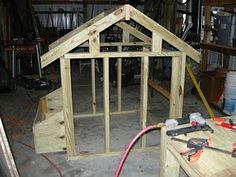 Building a chicken coop.