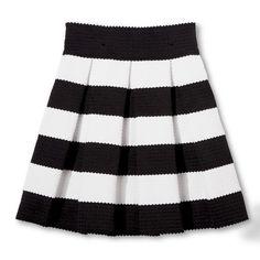 Junior's Pleated Circle Skirt