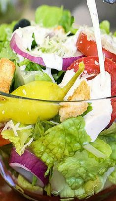 Olive Garden Copycat Salad and House Dressing