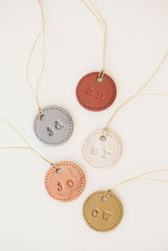 DIY personalized clay ornament charms