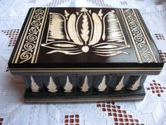 A winner has been selected for this round - This Pin is closed. Wooden Secret  Compartment Jewelry Box