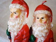 vintage santa candles – available at AtticAntics on Etsy