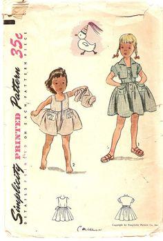 1940s Girls Sundress Pattern  Bolero Pattern by CherryCorners, $15.00