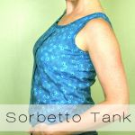 Sorbetto tank in Amy Butler voile