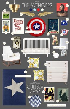Superhero baby room ideas...if I ever have a boy.