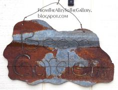 BEER GARDEN - Recycled Rustic Metal Sign Indoor or Outdoor Home or Garden Art