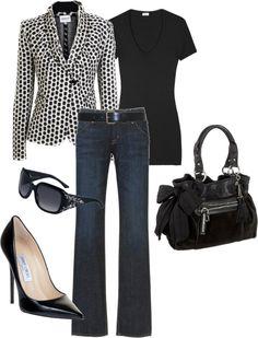 fashion, polka dots, cloth, jackets, polka dot jacket, polyvore, casual fridays, work outfits, interview outfits