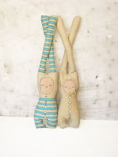 OOAK linen dolls