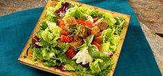 Our favorite Ready Pac Recipe, Cafe Bread Salad #readypac #fit&fresh