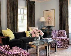 Plums by defayardrobitai on pinterest purple living for Brown and purple living room ideas