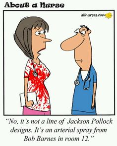 ☤ ☞ MD ☆☆☆ More Nurses' Cartoons: http://www.pinterest.com/mediamed/nurse-cartoons/ Check our board for ☤ MD ☞☆☆☆ Nurse Cartoons on MediaMed: http://www.pinterest.com/mediamed/nurse-cartoons/ #humor #nurses #nurse [Medical art. About a Nurse. Jerry King.]
