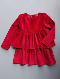 Velvet amp tweed red velvet tiers dress 12m 6y holiday and party dress