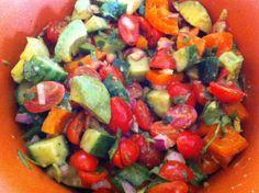Holy Guacamole Salad - perfect for summer parties! #paleo #salad #guacamole #grainfree #glutenfree