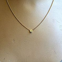 Find it at the Foundary - Tiny Skull Charm Necklace