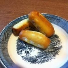 """Golden Pound Cake Twinkies   """"Make your own creme-filled mini snack cakes and experience their amazing flavor when freshly made from scratch. You can put mini chocolate chips in the batter and make chocolate filling for a different twist."""""""