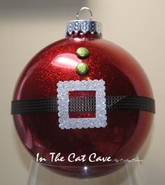 Glitter Stampin Up Christmas Bulb