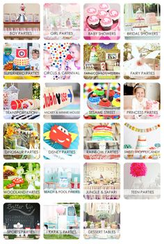 TONS of Kid birthday party ideas