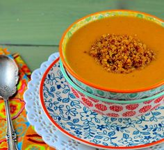 Creamy, spicy, vegan carrot soup   May I Have That Recipe