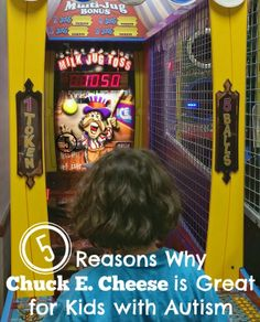 Going to Chuck E. Cheese was a learning experience for us both! via Atypical Familia by Lisa Quinones-Fontanez