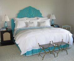 Guest Bedroom ~ Aqua Highlights