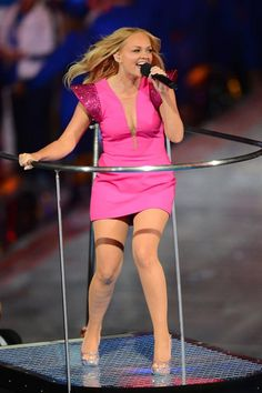 Baby Spice at the London Olympics 2012 Closing Ceremony