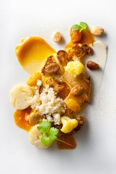 Cauliflower Roasted With Grapes, Almonds and Curry: Well's Vegetarian Thanksgiving