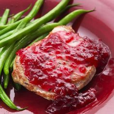 Easy Pork Chop Saute' with Cranberries from Delish