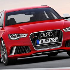 Red Audi RS6 2014