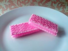 Felt food - Pink Wafers @ Pipinopolis