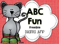 Colorful Cat ABC Fun Freebie {ABC Literacy Center}