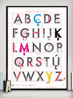 Alphabet of Typography graphic, letter, font, chart lab, type, print, design, pop chart, alphabet art
