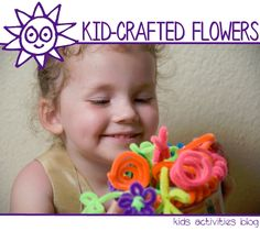 How to make super cute pipe cleaner flowers!