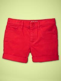 Girls' Shorts: denim shorts, cotton uniform shorts, bermuda shorts, corduroy shorts at GapKids   Gap
