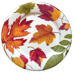Autumn Leaves Salad/Dessert Plates