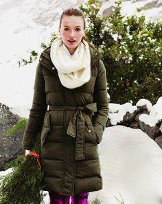 JCrew - Long puffer coat