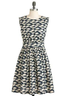 Too Much Fun Dress in Airplanes, #ModCloth
